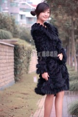 Rabbit Fur / Cashmere Knitted Sweater 3/4 length Jacket