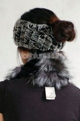 Rex Rabbit Fur Knitted Headband