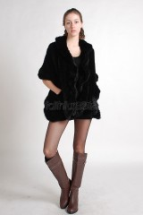 Mink Fur Knitted Shawl