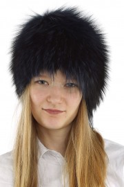 Women Winter Real Raccoon Fur Beanie Hat Cap
