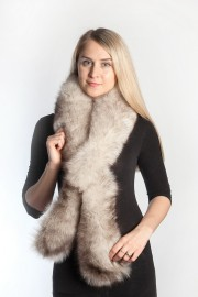 Ladies Winter Real Fox Fur Scarf Stole Shawl Muffler Blue Fox