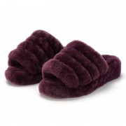Fashionable Fur Slippers Luxury Rex Rabbit Slippers