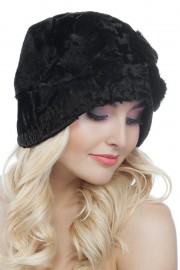 Black Aastrakhan Karakul Hat Fur Bucket Hat