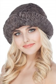 Karakul Astrakhan Hat Fur Bucket Hat