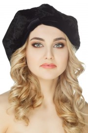 Women' s Newsboy Beret French Painter Hat Cap Karakul Astrakhan Hat