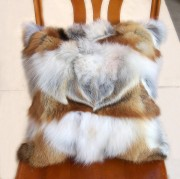 Real Red Fox Paw Fur Pillow Case Scatter Cushions